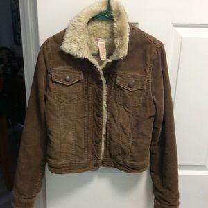 Abercrombie & Fitch Corduroy Fur Jacket